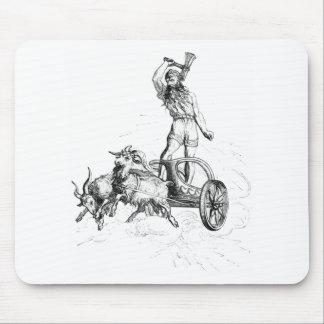 Thor in his Chariot Mouse Mat