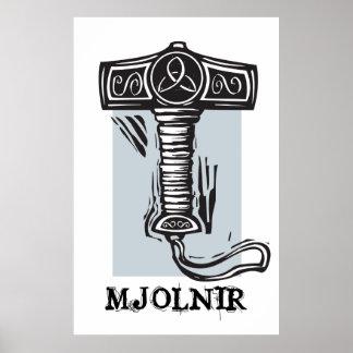 Thor s hammer Mjolnir Print