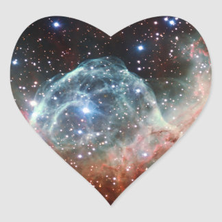 Thor s Helmet Nebula Space Heart Sticker