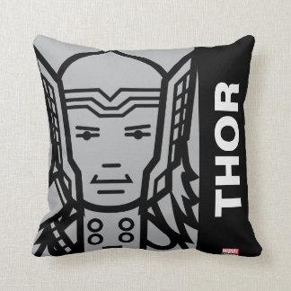 Thor Stylized Line Art Cushion