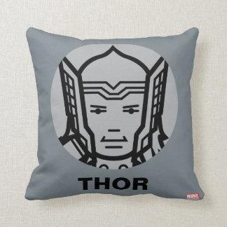 Thor Stylized Line Art Icon Cushion