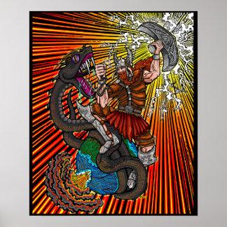 Thor vs. Jörmungandr Poster