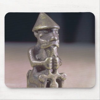 Thor with a hammer, statuette found in Iceland Mouse Mat