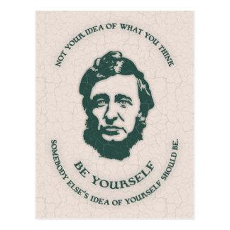 Thoreau - Be Yourself Postcard