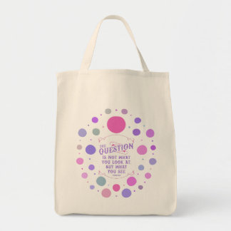 Thoreau Inspirational Quote Tote - What You See