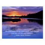 Thoreau quote and Big Bear Sunrise Posters