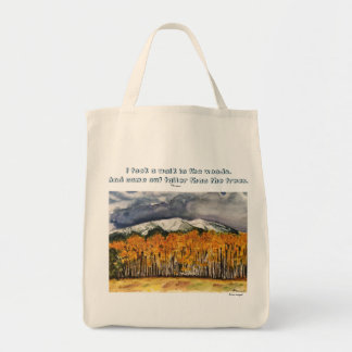 Thoreau Quote Aspen Landscape Art Grocery Tote