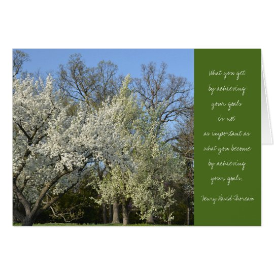 Thoreau Quote Graduation Card-Trees Card
