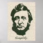 Thoreau - Simplify Poster