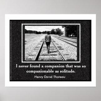 Thoreau Solitude quote -poster