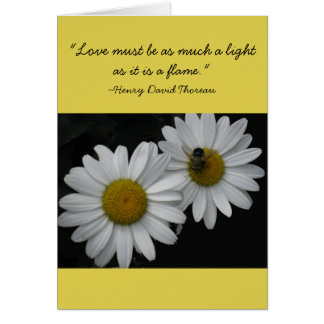 Thoreau Two Flower Wedding Card