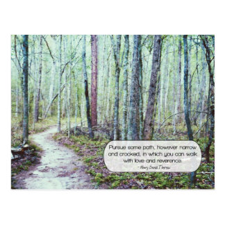 Thoreau: walk with love and reverence post cards