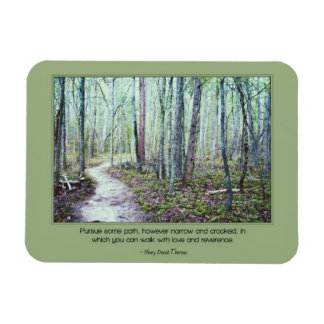 Thoreau: walk with love and reverence vinyl magnet