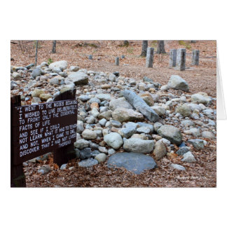 *Thoreau's location of cabin foundation. Card