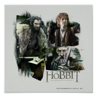 THORIN OAKENSHIELD™, BAGGINS™, and Gandalf Logo Poster