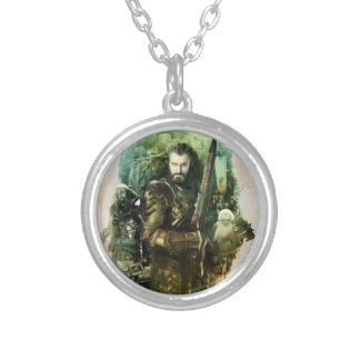 THORIN OAKENSHIELD™, Dwalin, & Balin Graphic Silver Plated Necklace