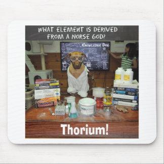 Thorium Thor God of Thunder Knowledge Dog Mouse Pad