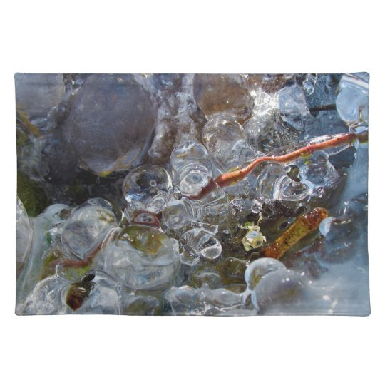 Thorn in Round Bubbles of Ice from Freezing Rain Placemats