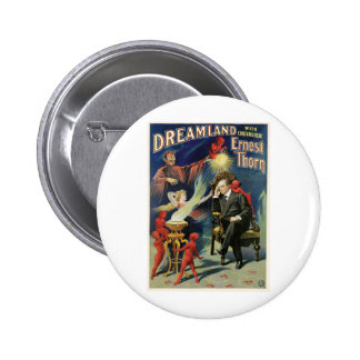Thorn Magician ~ Dreamland Vintage Magic Act 6 Cm Round Badge
