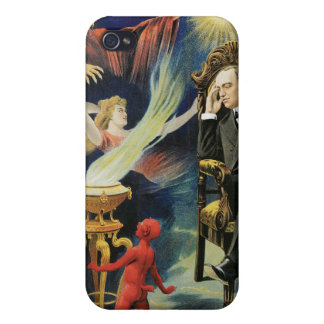 Thorn Magician ~ Dreamland Vintage Magic Act iPhone 4/4S Covers