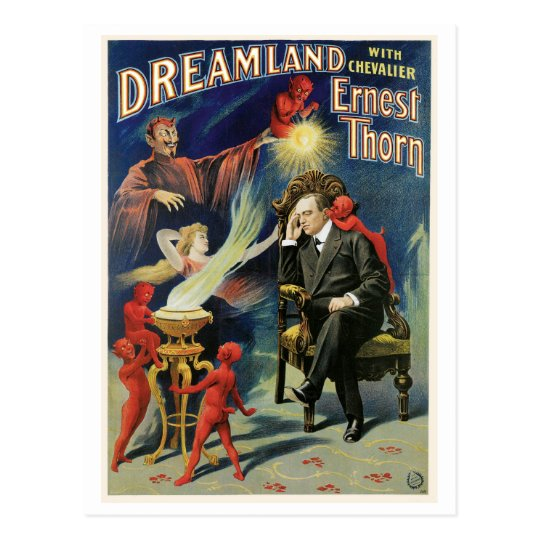 Thorn Magician ~ Dreamland Vintage Magic Act Postcard