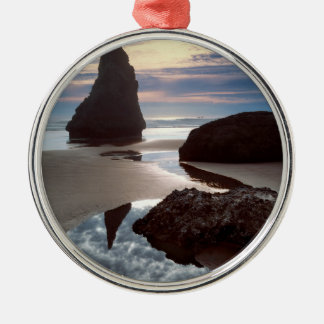 Thorn-Shaped seastack | Face Rock Wayside, OR Christmas Ornament