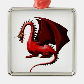 Thorn, the Red Dragon Christmas Ornament