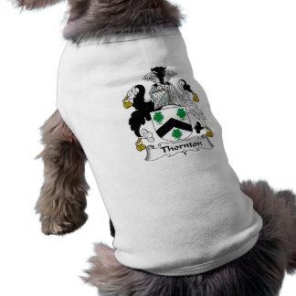 Thornton Family Crest Sleeveless Dog Shirt