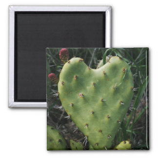 Thorny Heart Square Magnet