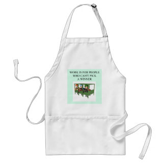 thorough bred horse racing design adult apron