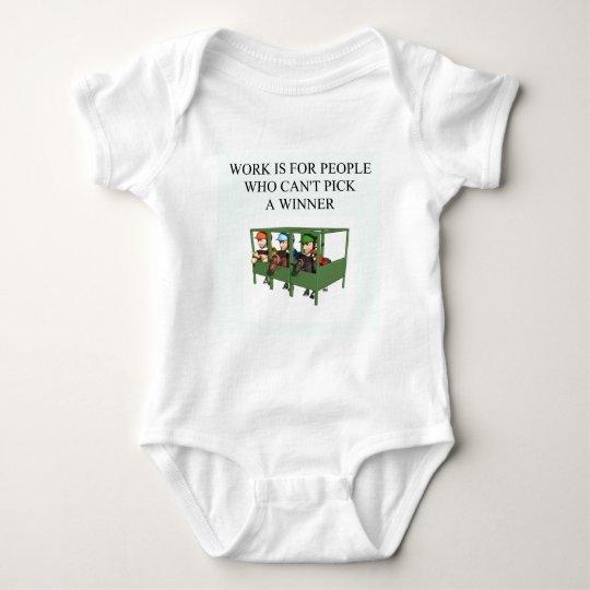 thorough bred horse racing design baby bodysuit