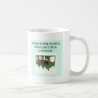 thorough bred horse racing design basic white mug
