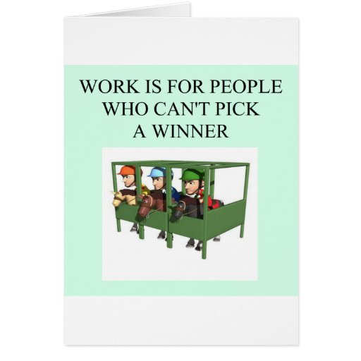 thorough bred horse racing design greeting card