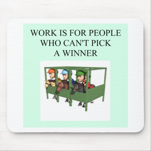 thorough bred horse racing design mouse pad
