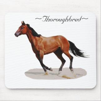 Thoroughbred galloping Mousepad