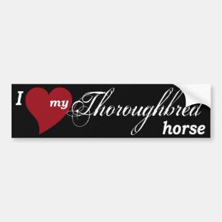 Thoroughbred horse car bumper sticker