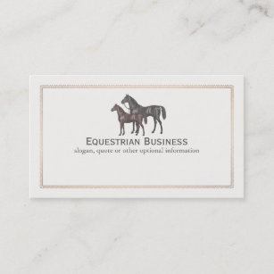 Equestrian business cards business card printing zazzle uk thoroughbred horse equestrian business card reheart Gallery