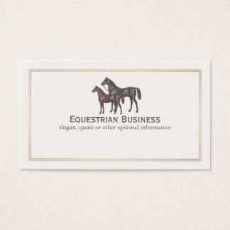 Thoroughbred Horse Equestrian Business Card
