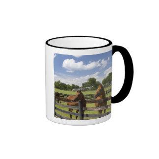 Thoroughbred horse farm in Marion County Coffee Mug