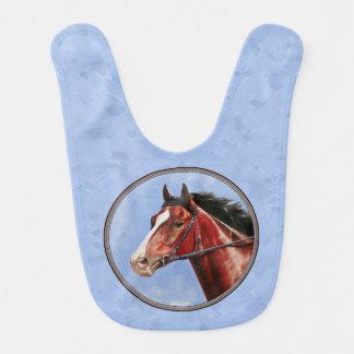 Thoroughbred Horse Racehorse Blue Bib