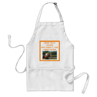 thoroughbred horse racing adult apron