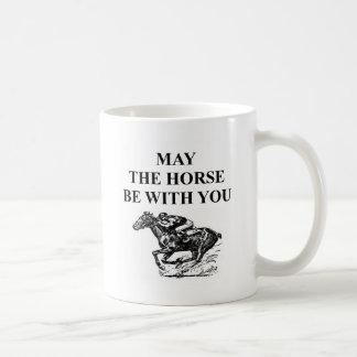 thoroughbred horse racing basic white mug