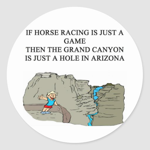 thoroughbred horse racing design sticker