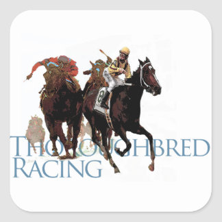 Thoroughbred Horse Racing Gifts Square Sticker