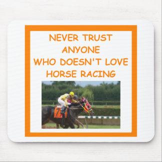 thoroughbred horse racing mousepad
