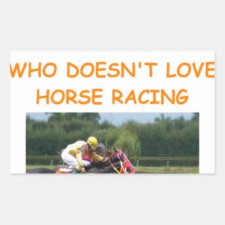 thoroughbred horse racing rectangular sticker