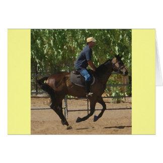 Thoroughbred Horse Rehabilitation - Equine Blank Greeting Card