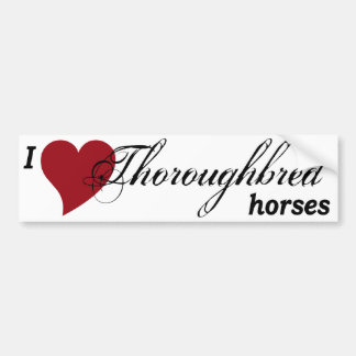 Thoroughbred horses bumper sticker