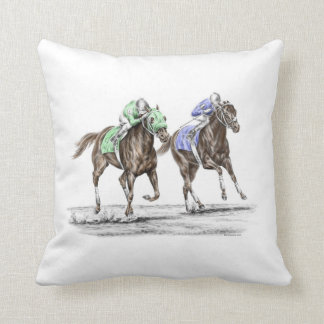 Thoroughbred Horses Racing Cushion