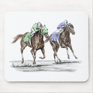 Thoroughbred Horses Racing Mouse Mat